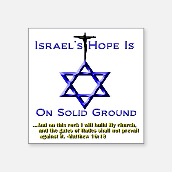 """NEW_Israels Hope Tee and Pi Square Sticker 3"""" x 3"""""""