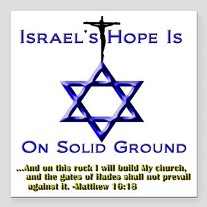 """NEW_Israels Hope Tee and Square Car Magnet 3"""" x 3"""""""