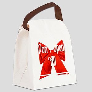 Dont open till Canvas Lunch Bag