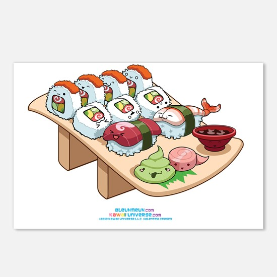 Kawaii-Cali-Sushi-Cafe-Tr Postcards (Package of 8)