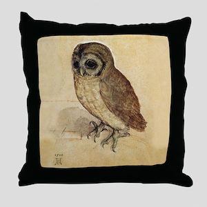 Little Owl by Durer Throw Pillow