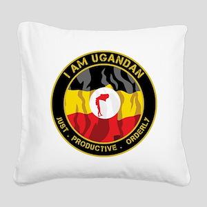 I-am-Ugandan-seal_large Square Canvas Pillow