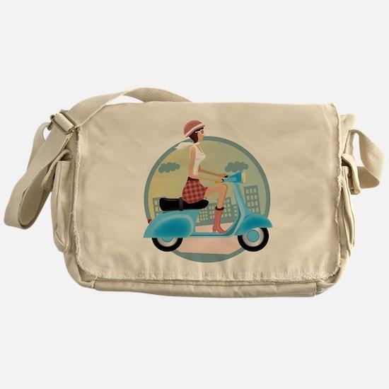 Vespa Girl Messenger Bag