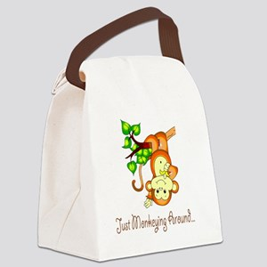 2-JustMonkeyingAround Canvas Lunch Bag