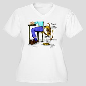 beg Women's Plus Size V-Neck T-Shirt
