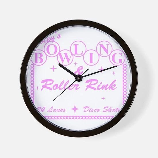 2-TooleysRollerRink Wall Clock
