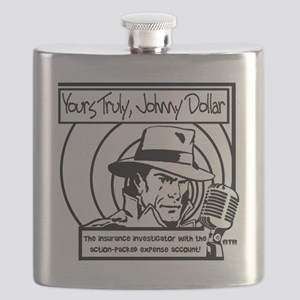 Yours Truly Johnny Dollar BW Flask
