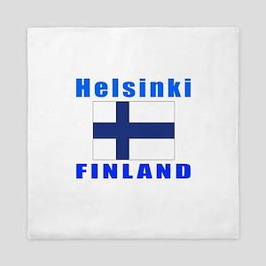 Helsinki Finland Designs Queen Duvet