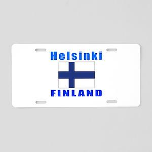 Helsinki Finland Designs Aluminum License Plate