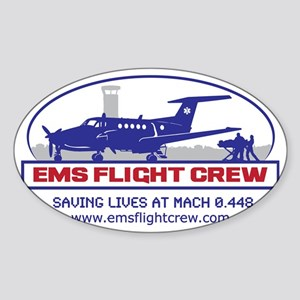 FinalFixed Wing Sticker (Oval)