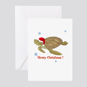 Personalized Christmas Sea Turtle Greeting Cards (