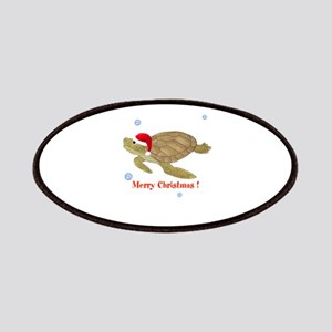 Personalized Christmas Sea Turtle Patches