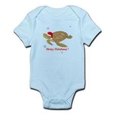 Personalized Christmas Sea Turtle Infant Bodysuit