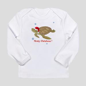 Personalized Christmas Sea Turtle Long Sleeve Infa