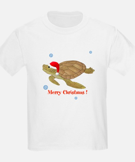 Personalized Christmas Sea Turtle T-Shirt