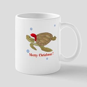 Personalized Christmas Sea Turtle Mug