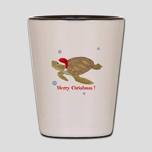 Personalized Christmas Sea Turtle Shot Glass