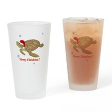 Personalized Christmas Sea Turtle Drinking Glass