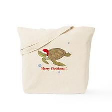 Personalized Christmas Sea Turtle Tote Bag