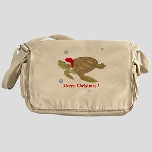 Personalized Christmas Sea Turtle Messenger Bag
