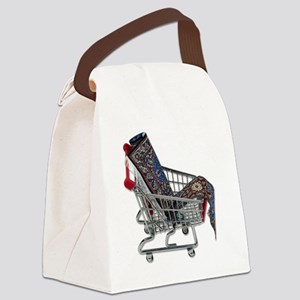 RugsShoppingCart090410 Canvas Lunch Bag