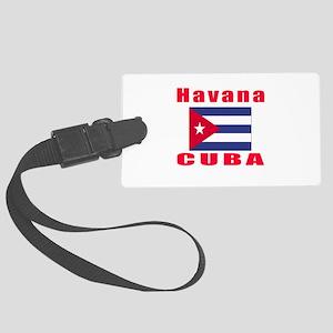 Havana Cuba Designs Large Luggage Tag