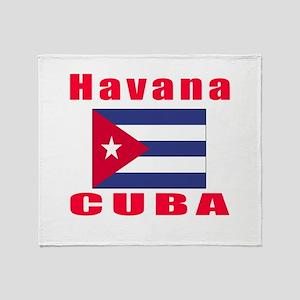 Havana Cuba Designs Throw Blanket