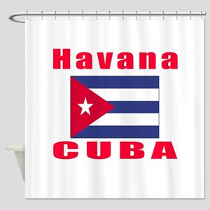 Havana Cuba Designs Shower Curtain