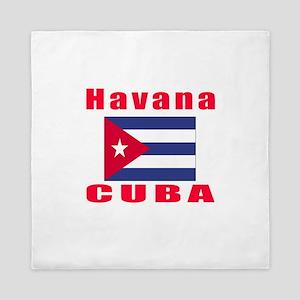 Havana Cuba Designs Queen Duvet