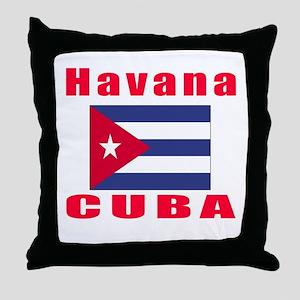 Havana Cuba Designs Throw Pillow