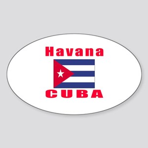 Havana Cuba Designs Sticker (Oval)