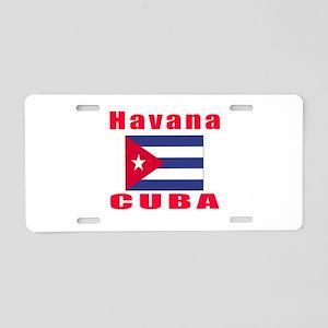 Havana Cuba Designs Aluminum License Plate