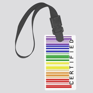 Certified Rainbow Barcode-sidewa Large Luggage Tag