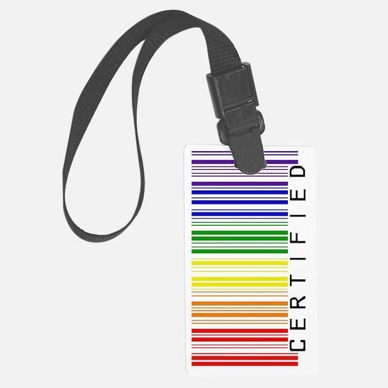 Certified Rainbow Barcode-sidewa Luggage Tag