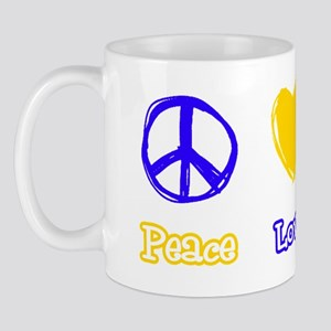 Bobcat Peace Love Tshirt copy Mug