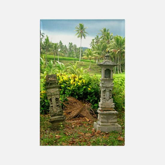 rice field shrine bali 1 Rectangle Magnet