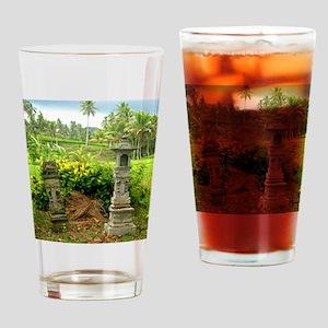 rice field shrine bali 1 Drinking Glass