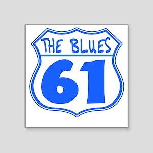 "BluesHighway Square Sticker 3"" x 3"""