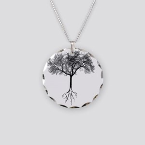 Tree Necklace Circle Charm