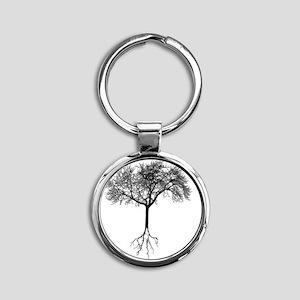 Tree Round Keychain