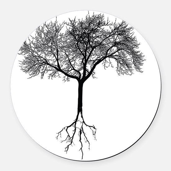 Tree Round Car Magnet