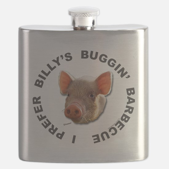 Billys Barbecue t-shirt back Flask