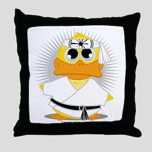 Karate-Duck Throw Pillow