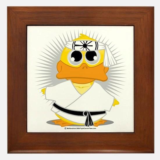 Karate-Duck Framed Tile