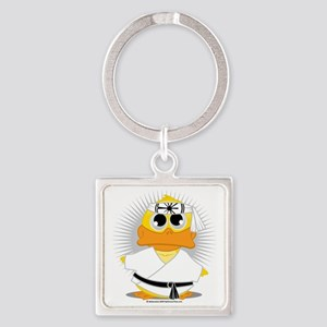 Karate-Duck Square Keychain