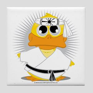 Karate-Duck Tile Coaster