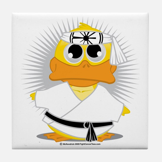 Karate-Duck Tile Coaster
