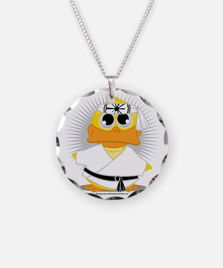 Karate-Duck Necklace Circle Charm