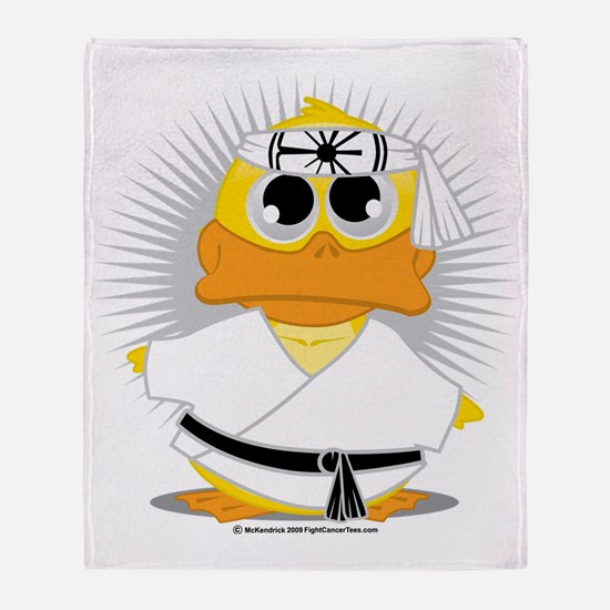 Karate-Duck Throw Blanket