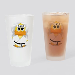 Karate-Duck Drinking Glass